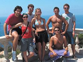 Studenten auf einem Ausflug in Mallorca